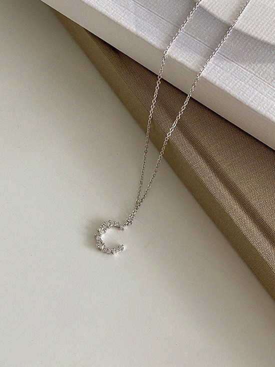 [92.5silver] crescent (necklace)