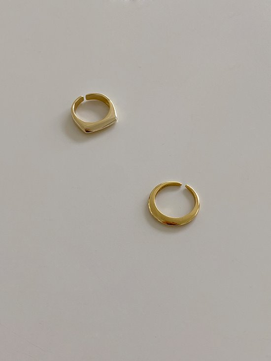 [92.5silver] gold mood set (ring)